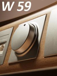 Серия розеток и выключателей W 59 Frame