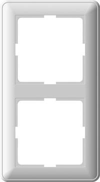 Рамка W59 двухместная крем.