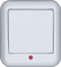 Выключатель Прима О/У с М/П одноклавишный с подсветкой