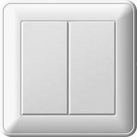 Выключатель W59 двухклавишный бел.