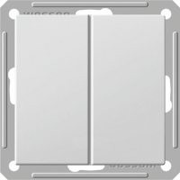 Выключатель W59 двухклавишный матовый хром без рамки